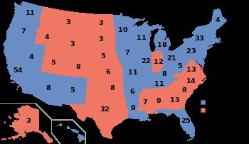 1996, Bill Clinton (D) - 379 EV / 47,401,185 (49.2%) PV, Bob Dole (R) - 159 EV / 39,197,469 (40.7%) PV