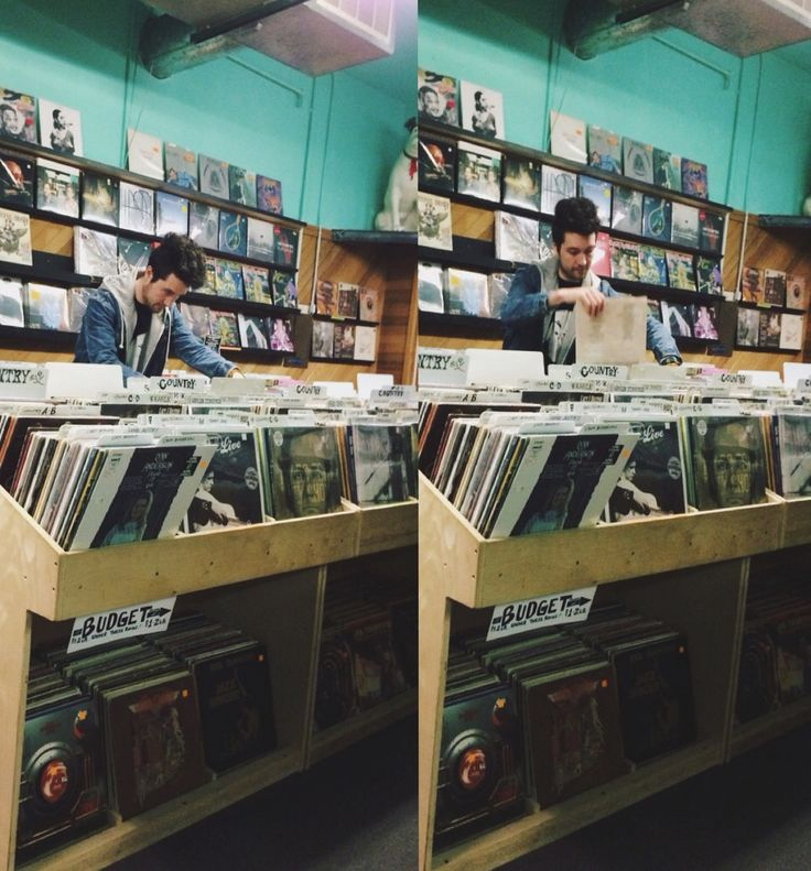 Dan at a local record store in Portland>>I can't help but feel that these pics were taken by a stormer loosing their shit and hiding behind a row of CDs while stealthily taking an ass ton of pics XD