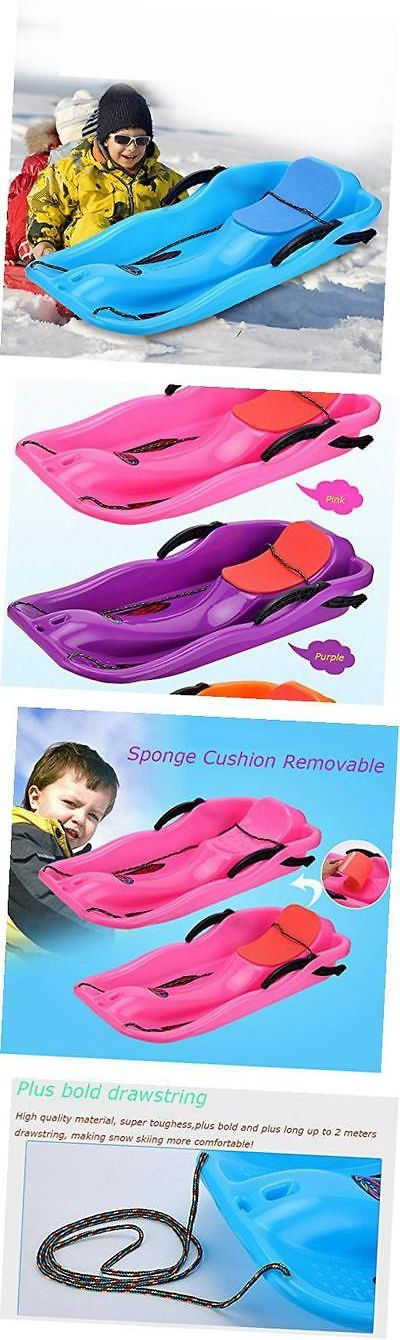 Sleds and Snow Tubes 59892: Snow Sled For Kids Adult, Outdoor Grass Skiing, Winter Toboggan, Pink -> BUY IT NOW ONLY: $74.88 on eBay!