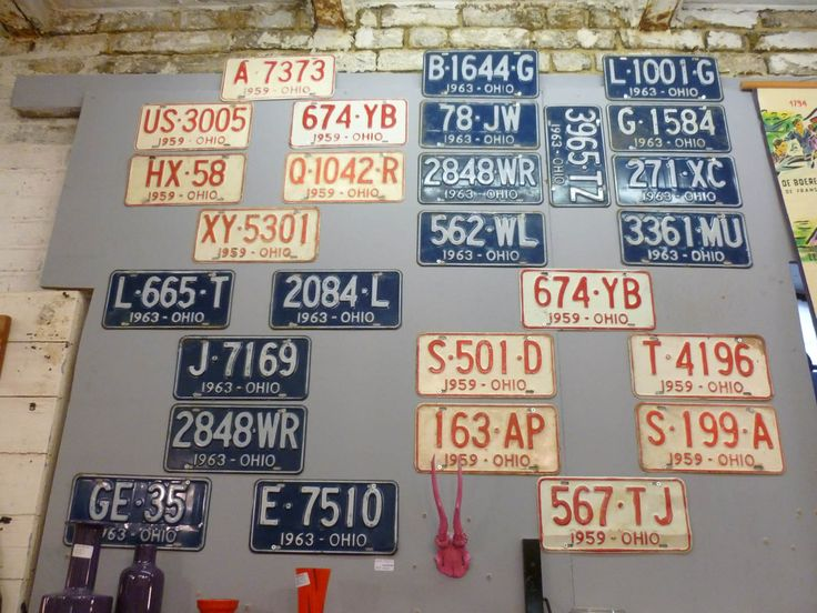 Junk Deluxe :: Vintage American Ohio Car Number Plates