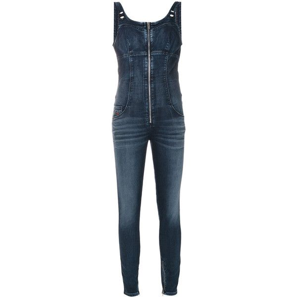 Diesel denim overalls ($310) ❤ liked on Polyvore featuring jumpsuits, blue, blue denim overalls, blue denim jumpsuit, diesel overalls, denim overalls and blue jumpsuits