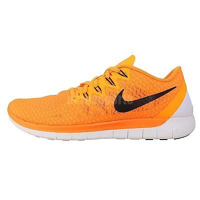 new products 5cb7f dd5ae Nike Free 5.0  FREE RUN Swift Orange Black Barefoot Mens Running Jogging  Shoes See more