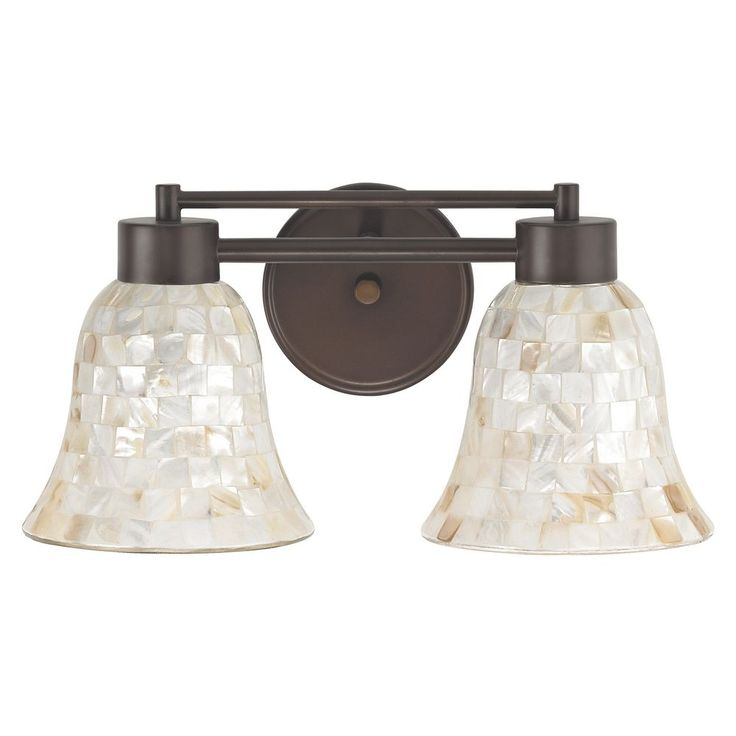 Bathroom Light with Mosaic Glass in Bronze Finish at Destination Lighting