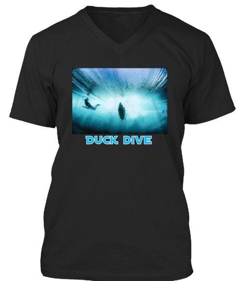 Duck Dive Black T-Shirt Front