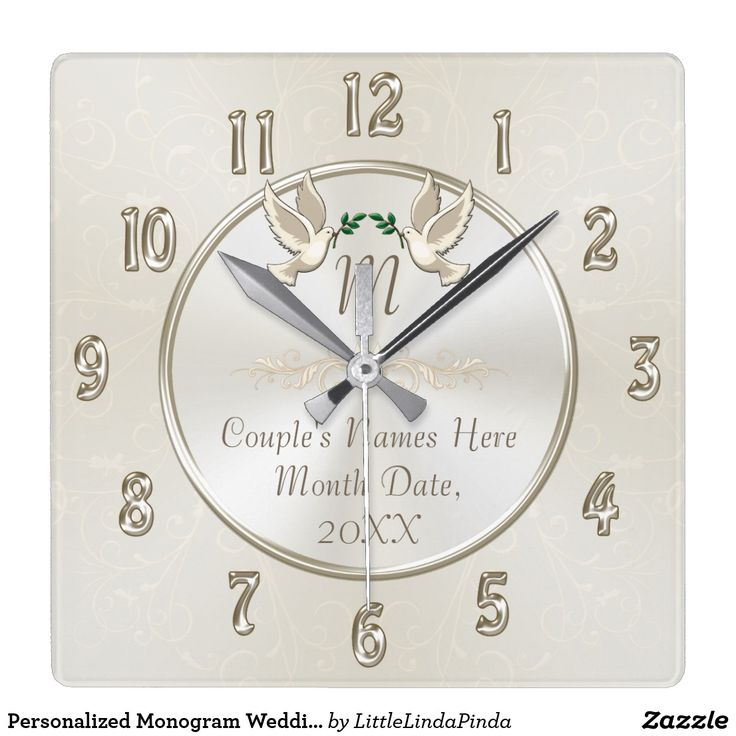 Personalized Monogrammed Wedding Gifts Clock Click Https Www Zazzle