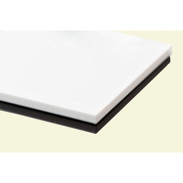 Plexiglas 0.118 in. x 24 in. x 48 in. White Acrylic Sheet (4-Pack)