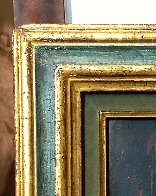 Obra pictòrica George Rouault detall abans de restaura, procedència Museu de Montserrat