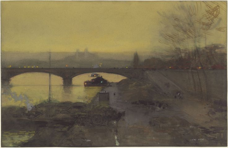 Luigi Aloys Francois Joseph Loir, 'The Banks of the Seine with the Pont des Arts at Dusk,' 1890s?, National Gallery of Art, Washington D.C.