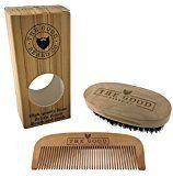Cepillo y Peine Para Barba Kit de Aseo The Good Beard Co. Hecho con madera de calidad y cerdas 100% de jabalí