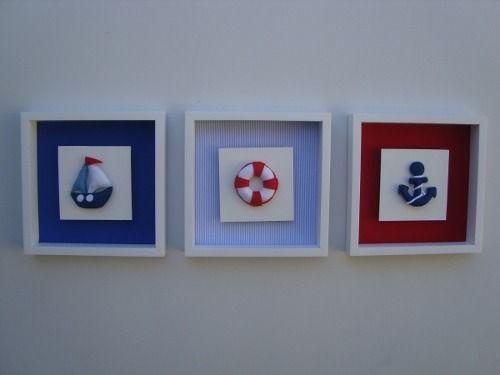Quados Bebê Tema Náutico/marinheiro - R$ 19,90