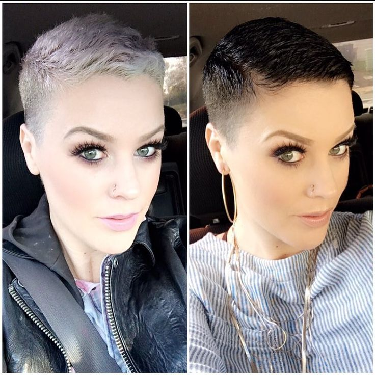 Who has more fun? Blondes or Brunettes...ooooorrrrrr something else!  Time for another switch up! What's is gonna be?!!!! #shorthairbaby