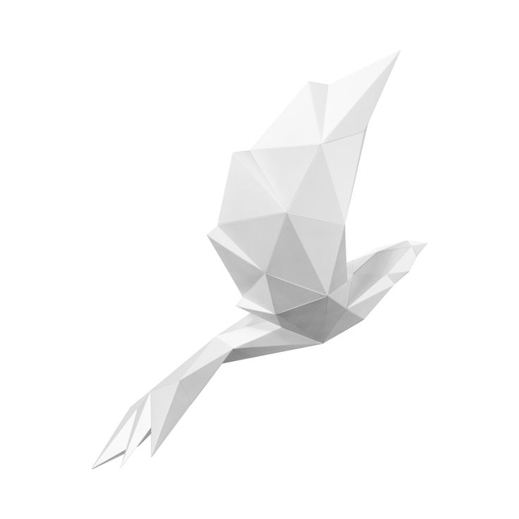 PAPA Play art Polygon art Bird Innocent White