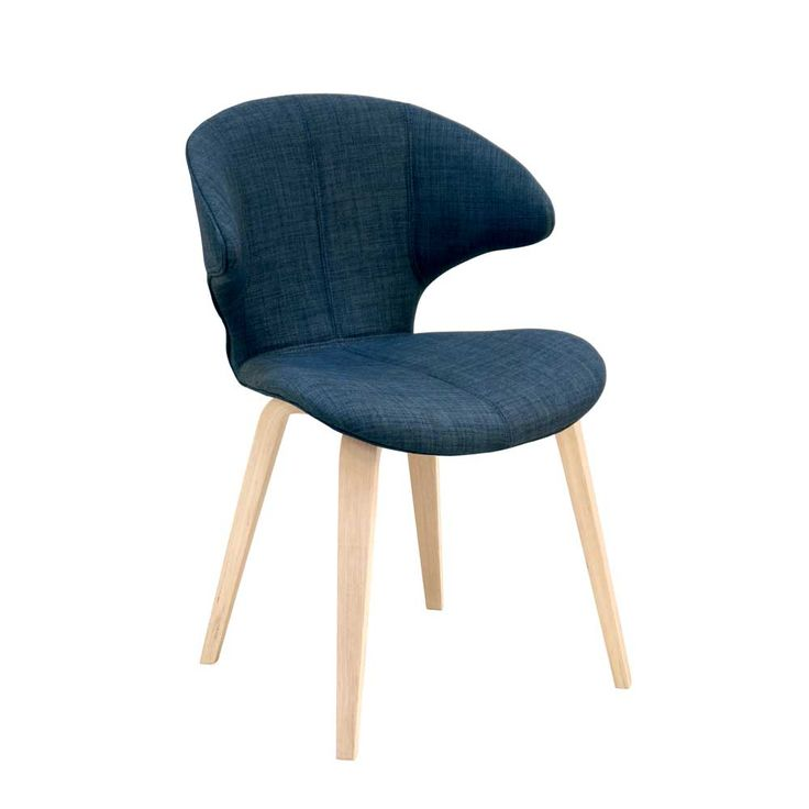 Stuhl Set In Blau Stoff Holzbeine (2er Set) Jetzt Bestellen Unter: Https: