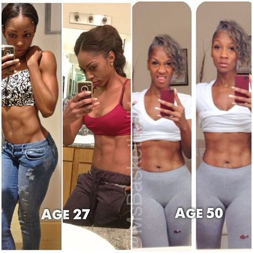 fit-black-girls:  I had to do a side by side pic!!!! Mannnn this...#fitblackwomen #foreverfit #blackwomen