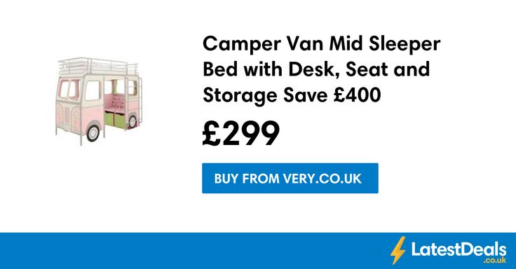 Camper Van Mid Sleeper Bed with Desk, Seat and Storage Save £400, £299 at Very.co.uk