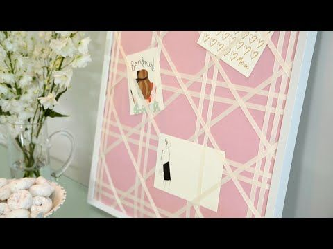 #DIY message board.  This project will add personality to your office or bedroom!