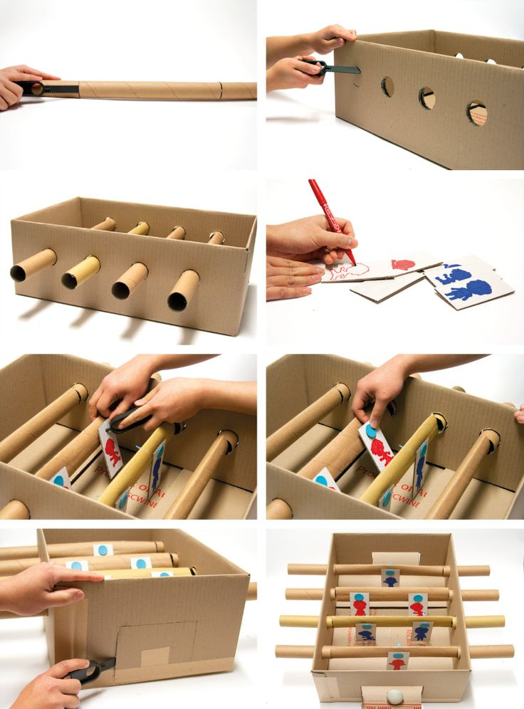 Cardboard Games Part - 34: How To Make: Cardboard Foosball Table