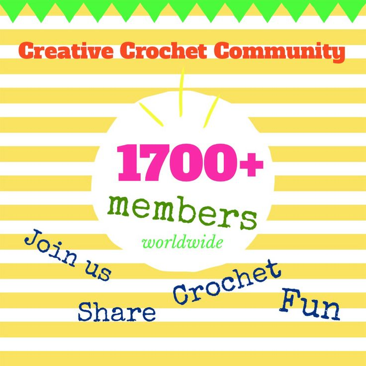 www.facebook.com/groups/CreativeCrochetCommunity  Join us and share #crochet fun!