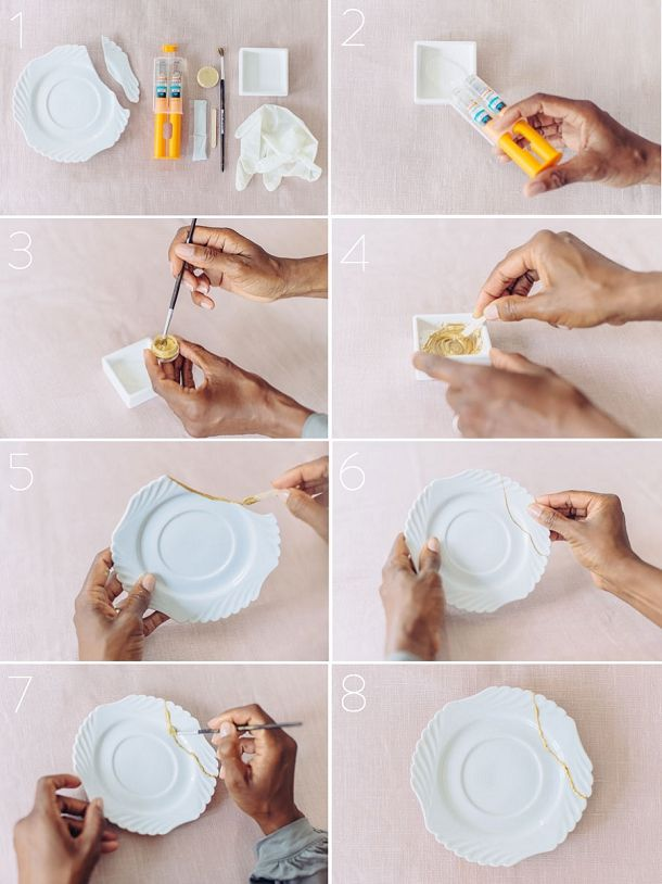 bloved-uk-wedding-blog-Kintsugi-diy-gold-crockery-Tutorial-Steps                                                                                                                                                                                 More