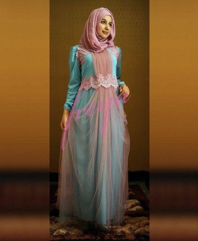 Busana Gamis Muslim Anggun dan Memikat
