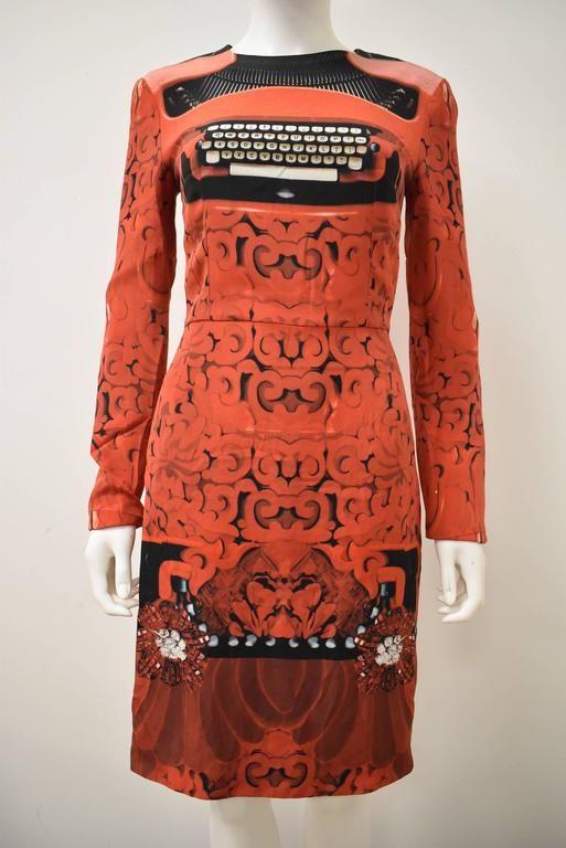 Mary Katrantzou A/W 2012 Typewriter print dress