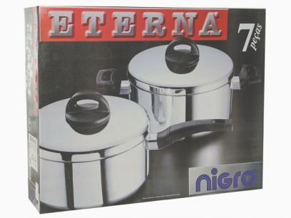 Conjunto de Panelas Nigro Eterna 025535 - 7 Peças com as melhores condições você encontra no Magazine Vianna3. Confira!