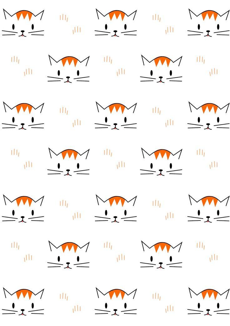 FREE printable cat pattern paper   meinlilapark
