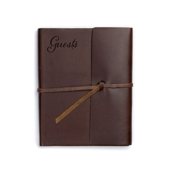 Wedding Guest Book Leather Unique guest book ideas for