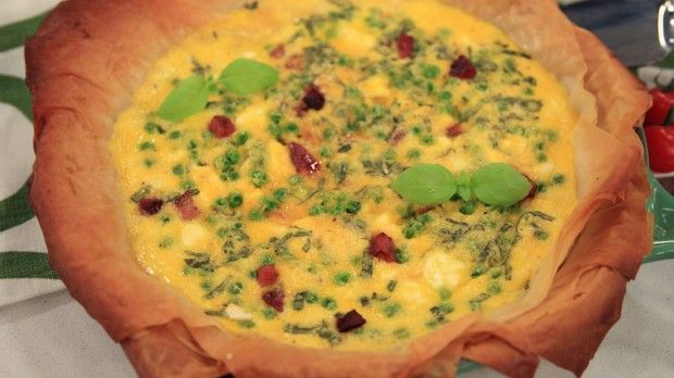 Pea, Ham and Phyllo Tart | Steven and Chris | Frozen peas are on the menu tonight, and it's not going to be boring.