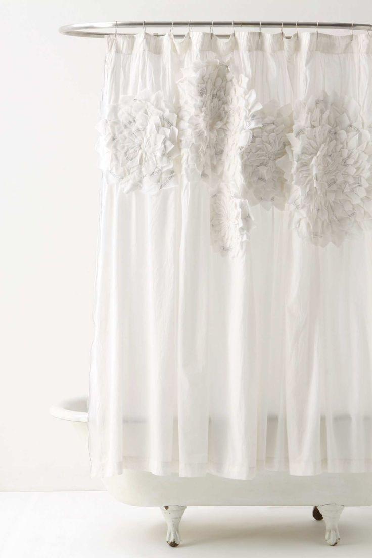 Grayson silver gray jacquard fabric cloth bathroom bath shower curtain - Sculpted Mum Shower Curtain For Cottage Style Bathroom