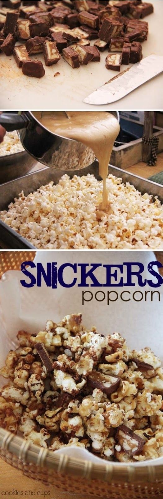 Snickers Popcorn | 20 Perfect Summer Desserts That Will Make You Drool