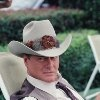 "J.R. Ewing (Larry Hagman 1931-2012) 1980 II. J.R. Ewing to Sue Ellen (Linda Gray) ""Sue Ellen, shouldn't you get some sleep? You know how haggard you look in the morning without your full eight hours."" DALLAS episode: Ellie Saves the Day (#3.12) (1979)"