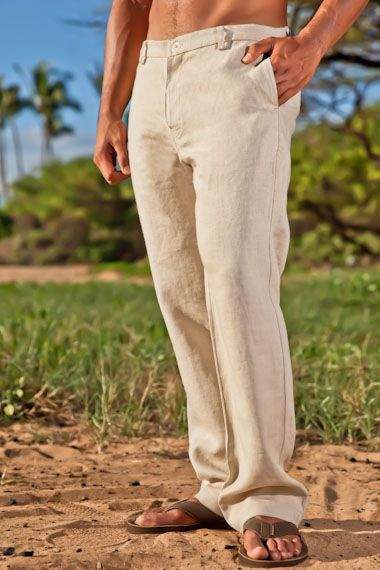 Island Importer - Linen Amalfi Pant - By popular demand, our first ever zip-