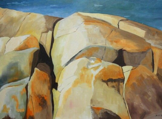 Rocks from the westcoast of Sweden. Oil.80x60 cm. Sold. Contact: brittmarie.fabic@gmail.com