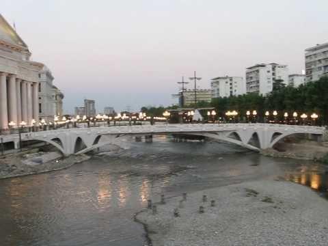 Stone Bridge View Skopje - YouTube