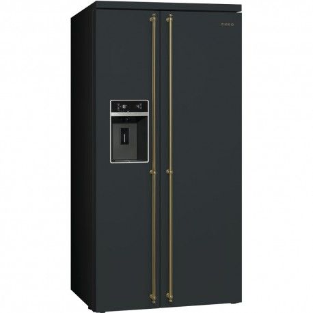 smeg sbs8004ao Frigorifero antracite Side-by-Side,