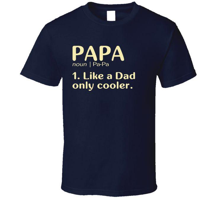 Papa Dictionary T Shirt