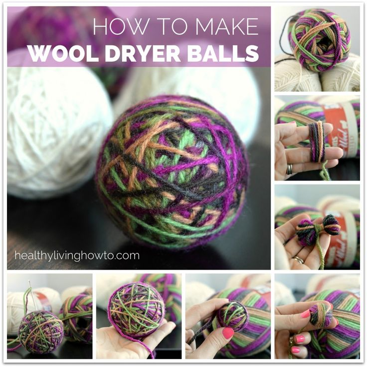 How To Make Wool Dryer Balls  | healthylivinghowto.com | Alternative for chemical dryer sheets