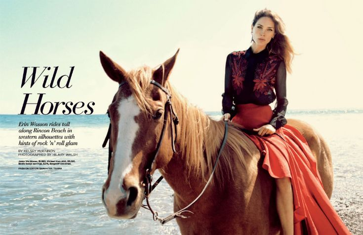 Erin Wasson is a Western Beauty in Hilary Walsh's Shoot for C MagazineHilarious Walsh, Erin Wasson, Jason Wu, June 2012, Horses Riding, Fashion Blog, Erinwasson, Oracle Foxes, Wild Horses