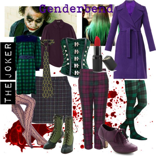 Genderbend Joker by twoheartedravenclaw on Polyvore featuring Mode, Givenchy, Alexander McQueen, Diane Von Furstenberg, SVILU, Miss L Fire, Barry M and Topshop