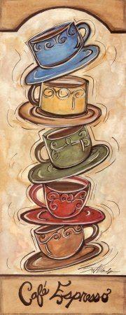 Cafe Espresso ~ Joy Alldredge plenty of colors for a kitchen.   Love it