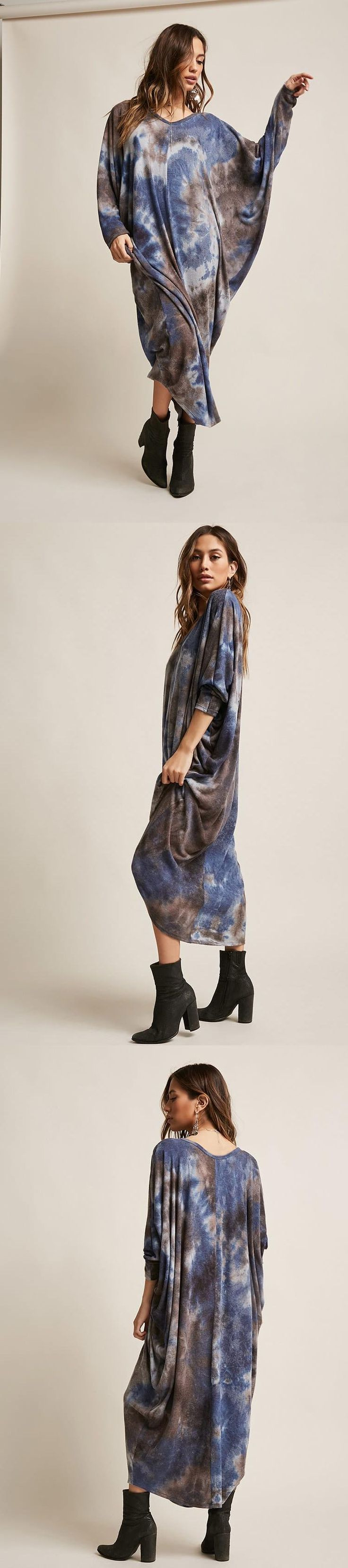 Oversized Tie-Dye Maxi Dress // 48.00 USD // Forever 21