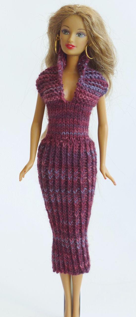 547 best knitting for barbie images on pinterest barbie clothes barbie doll and barbie dress. Black Bedroom Furniture Sets. Home Design Ideas