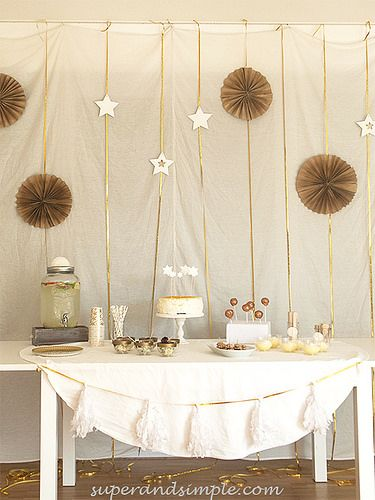 Gold-White Christmas party and Third Advent Cake