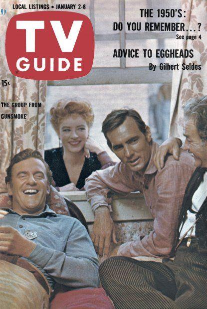 TV Guide: January 2, 1960 - James Arness, Amanda Blake, Dennis Weaver and Milburn Stone