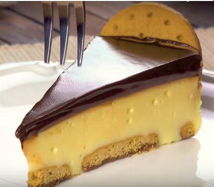 Schoko Biskuits Kuchen ohne backen