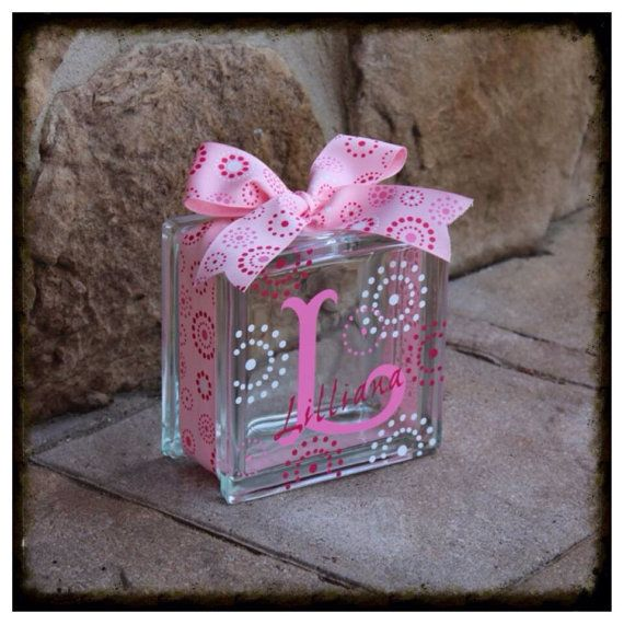 Glass Block Bank on Etsy, $26.00