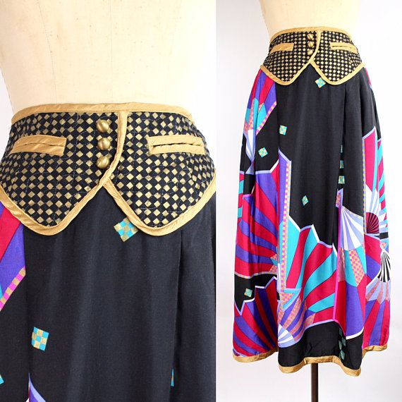 Vintage Jeanne Marc for Saks Fifth Avenue Skirt  Long