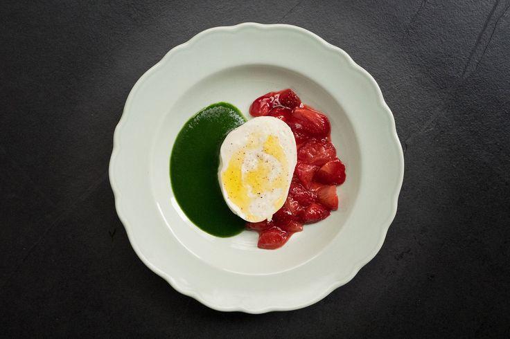 Mozzarella à la fraise de Jean Imbert, pour changer des tomates ! #jeanimbert #entree #starter #summer #ete #mozza