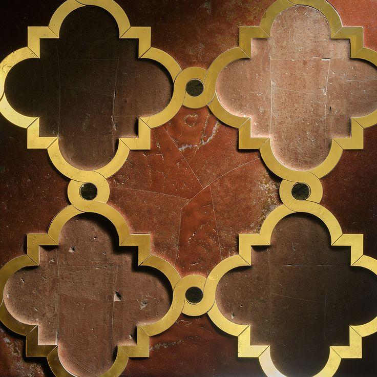 "Heramosa Design Backlit Murano Glass Polished relief inlay. Panel size 38""x38"""